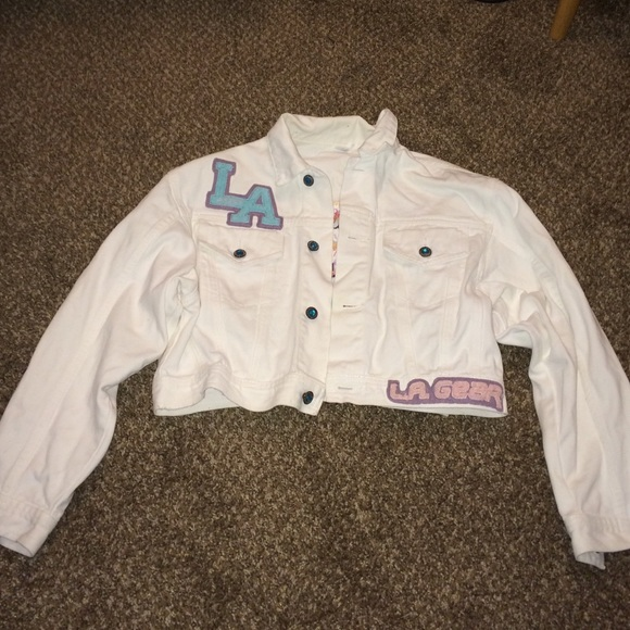 Vintage Jackets & Coats - La gear white Jean denim jacket
