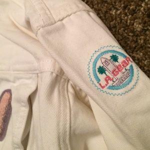 Vintage Jackets & Coats - La gear white Jean denim jacket