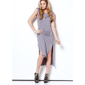 "CLEARANCE ""Papillon"" Ruched Asymmetrical Dress"