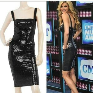 Dresses & Skirts - Sexy Black sequin bandage dress