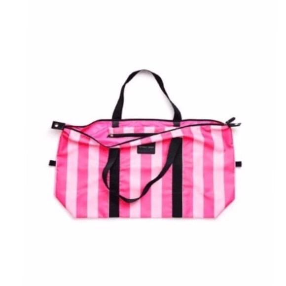 52% off Victoria's Secret Handbags - Foldable Weekender Duffle ...