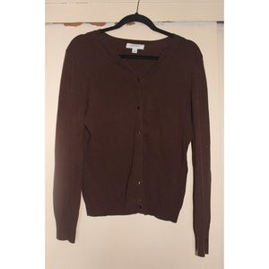 Brown button up sweater
