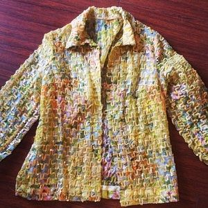 Jackets & Blazers - 💛 FUN and BRIGHT 💛 jacket - yellow with sequins