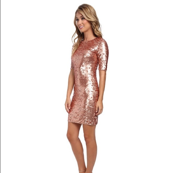Rose gold sequin dress near me