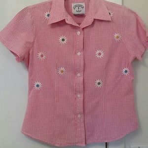 Cotton Pink Summer Flower Top S