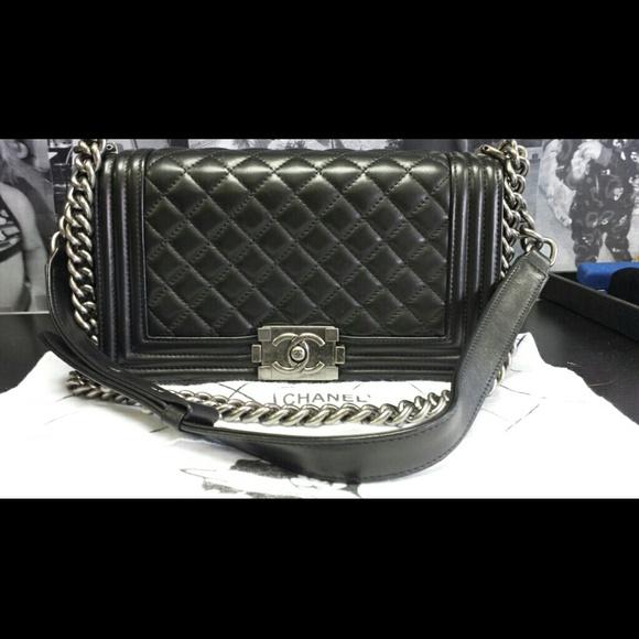 8b48070c34d8ac CHANEL Bags | Authentic Le Boy Metallic Clutch | Poshmark