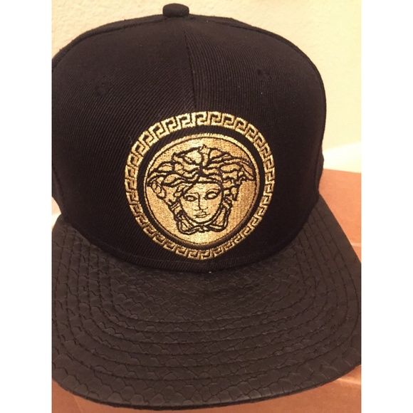 541e5f8dae7d4c Versace Accessories | Leather Snakeskin Hat | Poshmark