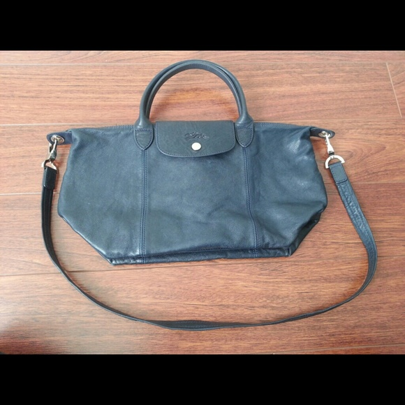 6977c9e03d0a Longchamp Le Pliage Cuir Leather- Authentic