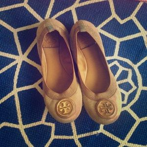 TORY BURCH Blush Suede/leather ballet flats 5.5/6