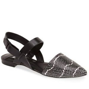 Marc Fisher Shoes - Black + White Pointed Flats