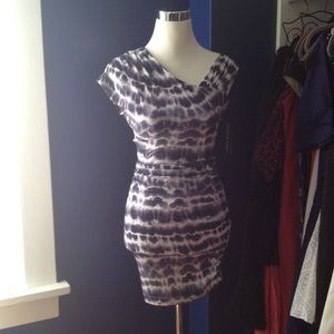 Andrew Marc Dresses & Skirts - Blue & White Bodycon Purple lining