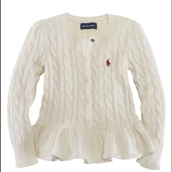 c181656d5 Girls Ralph Lauren peplum sweater