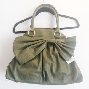 Big Buddha Handbags - Big Buddha Olive Bow Dome Handbag