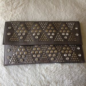 MMS, Metallic Silver Embellished Clutch