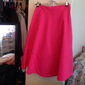 Midi pink flare skirt from h&m