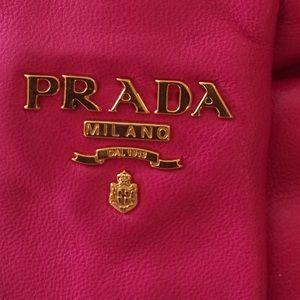 9985049e9b97 Prada Bags | Nappa Leather Black Pink Bow Clutch Bag | Poshmark