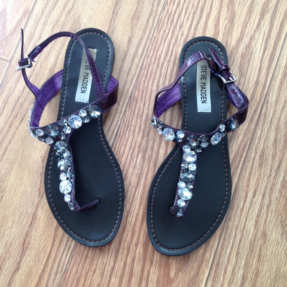 bac268c5853a Steve Madden Purple Rhinestone Sandals. M 55205a65620ff71b22003694