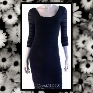 NWT Maison Jules Black Sheath Dress Sz Small