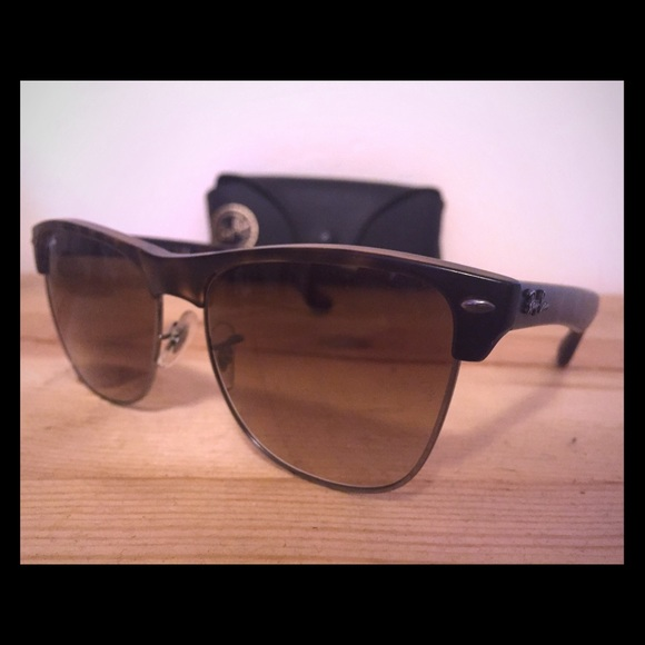 Ray Ban clubmasters oversized gradient light brown