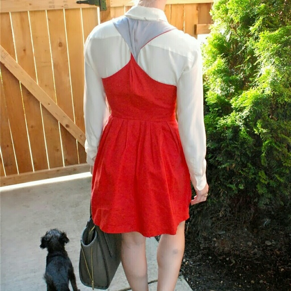 BB Dakota Dresses - BB Dakota Red Sleeveless Fit & Flare Dress