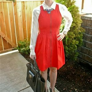 BB Dakota Red Sleeveless Fit & Flare Dress