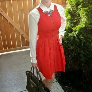 BB Dakota Dresses - BB Dakota Red Sleeveless Fit & Flare Dress