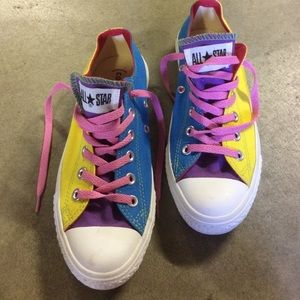 NEW converse RED custom sneakers size 7 women's