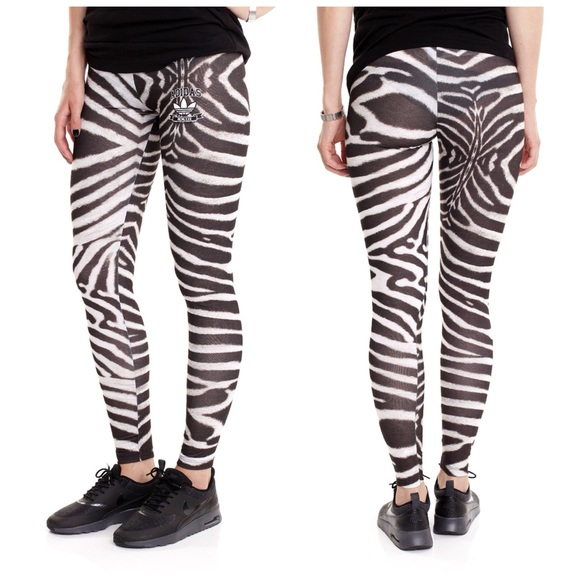 58d1d4239ba Adidas Pants | Originals Zebra Print Leggings Nwt | Poshmark