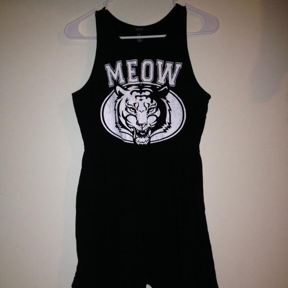 Black meow dress
