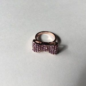 Forever 21 Pink Stone Bow Ring