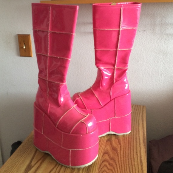 ef699e52076 Demonia Boots - Pink Stacked Boots!