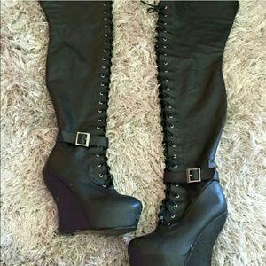 Boots - Sexy thigh high platform boots