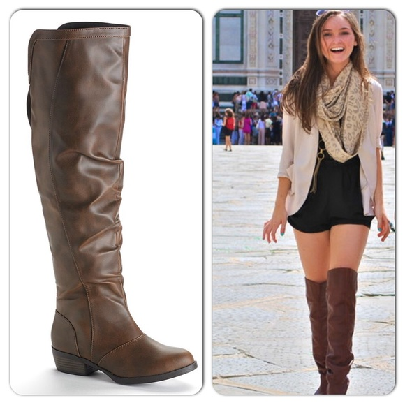 51% off Mudd Boots - Mudd Over The Knee Brown Riding Boots 7 from ...