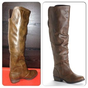 f1e104b61d7b Mudd Shoes | Over The Knee Brown Riding Boots 7 | Poshmark