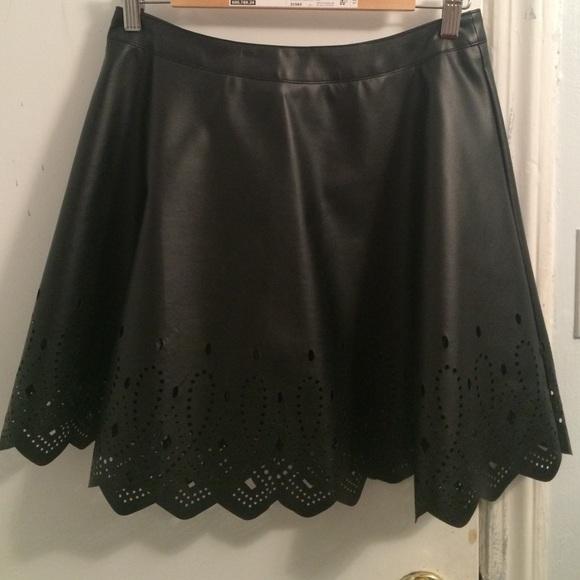 41 esley dresses skirts black laser cut a line
