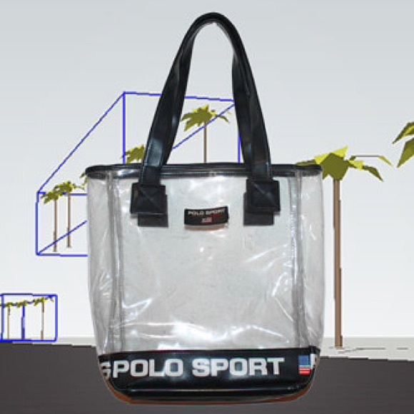 VINTAGE CLEAR POLO SPORT TOTE BAG. M 5520a282ea3f36377f004bd6. Other Bags  you may like. Ralph Lauren tote bag 8e648c072d