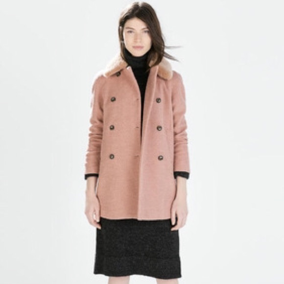 62% off Zara Outerwear - One day sale☀ Zara Pink Double ...