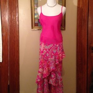 Chaps vibrant, frilly skirt and top set