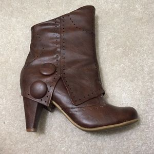Shoes - NOT FOR SALE!!! Mid-calf brown heeled boots
