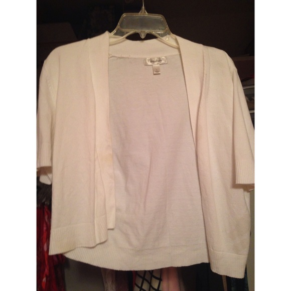 Short White Cardigan