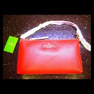 NWT Kate Spade Wellesley Byrd Leather Purse