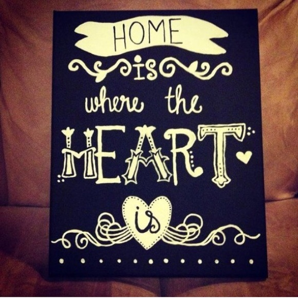 Home Is Where The Heart Is Canvas 8x10 From Erika 39 S Closet