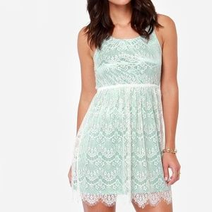 others follow Dresses & Skirts - Others Follow mint and lace dress
