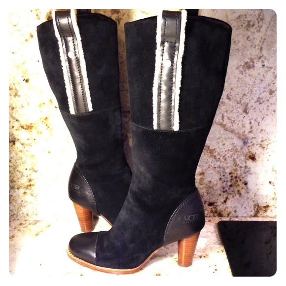 ugg ugg black suede leather boots hp 9 11 15 from