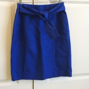 Banana Republic Dresses & Skirts - Stunning blue pencil skirt with front tie