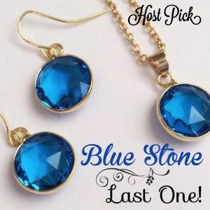 Jewelry - Blue stone necklace set