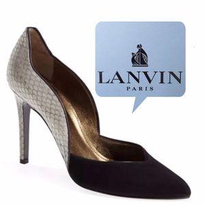 Lanvin Shoes - NWB LANVIN Snakeskin + Leather Heels