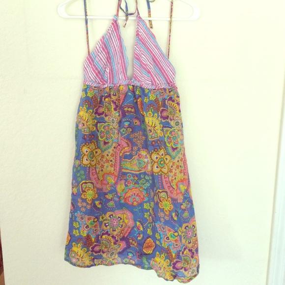 73% off Blue Plate Dresses &amp Skirts - Bohemian Blue Plate dress ...