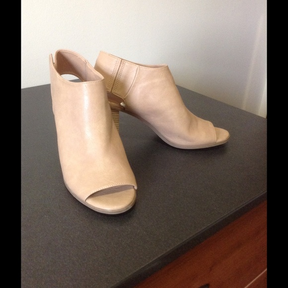 Mossimo Supply Co. Shoes - Tan peep toe booties