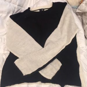 NWOT Black and White Sweater